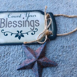 """Count Your Blessings"" – Hanging Sign"