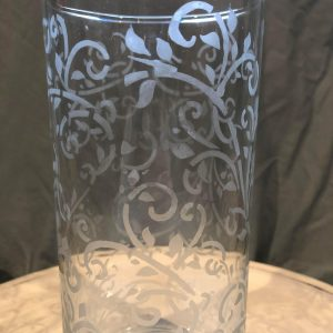 Branch Etched Glass Vase